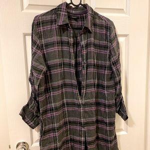 Vera Wang Cashmere Boyfriend Night Shirt, Size: M